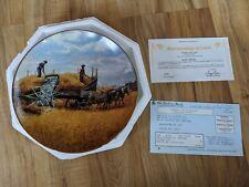 Danbury Mint Farming The Heartland Harvesting At Last Plate By Emmett Kaye