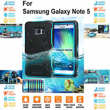 WaterProof Shock DustProof Tough Heavy Duty Case Cover for Samsung Galaxy Note 5