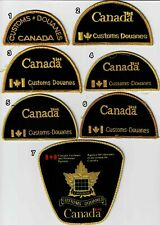 Canada Customs patch set 1970 – 2003 police