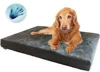 """Dogbed4less Large Waterproof Orthopedic Memory foam Pet Bed for Dog Crate 48X30"""""""