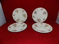 ROYAL DOULTON - OLD LEEDS SPRAY - 4 x TEA PLATES