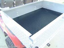 Rubber Black Diamond Plate Cargo Box Mat for Golf Carts