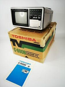 Rare Vintage Colour Toshiba  TV C-690B  Portable *BOXED*