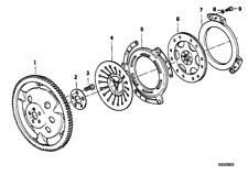 Pressure Plate, 21212325863, Bmw, R1100GS, R850GS, R1100R, R850R, R1100RS