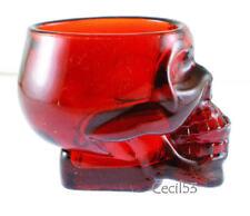 RED SKELETON SKULL BAR VODKA WHISKEY SHOT GLASS