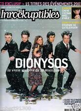 LES INROCKUPTIBLES  378./...DIONYSOS...LA VRAI VICTOIRE DE LA MUSIQUE../.02-2003
