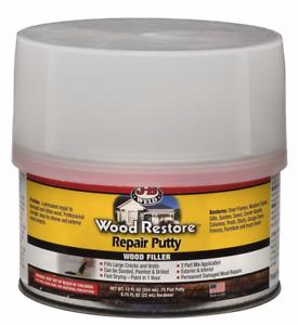 JB Weld Wood Restore Repair Putty Filler Tin 40003 354ml / 12 Fl. Oz.
