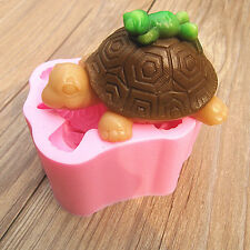 3D Turtle Frog Silicone Fondant Chocolate Sugarcraft Cake Clay Mold Baking DIY