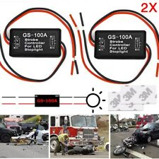 2X GS-100A Flash Strobe Controller Flasher Module Car LED Brake Stop Light Lamp
