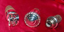 3 bouchons pour carafes en métal blanc