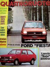 Quattroruote 252 1976 Test Ford Fiesta / Lancia Beta 2000 cc  [SC.35]