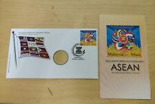 MALAYSIA ASEAN COMMUNITY 2015 FDC + Original Nordic Gold Coin