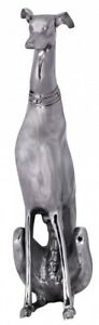 XL Design Skulptur DOG Aluminium 70 cm Figur Hund Windhund Deko Dekoration Alu