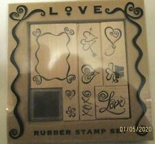 All Night Media Love Rubber Stamp Set - New in Package