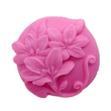 Big Round Lily Flowers Silicone Soap Mold Resin Polymer Clay Craft Art DIY Molds