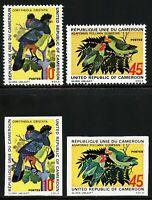 Kamerun 1972 Vögel Papageien Riesenturako 715-716 A und U Imperf MNH / 790