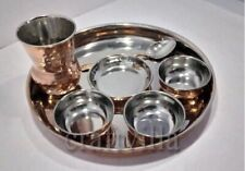 Vintageware Copper Traditional Kitchen Thali Dinner Set of 7 Pieces