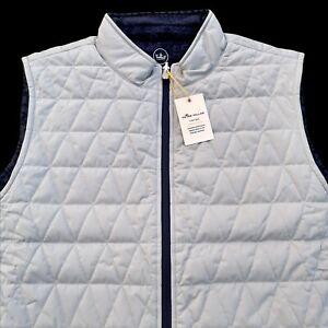 Peter Millar Crown Sport Cloudglow Fairisle Reversible Full Zip Vest XL $178