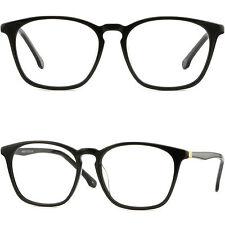 Damen Herren Brille Gestell Kunststoff Große Hochwertig Plastik Fassung Schwarz