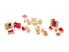 Puppenmöbel mit Garten Puppenhaus L7219