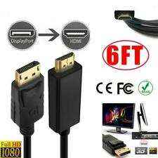 1080P 1.8m 6ft Displayport DP to HDMI Male AV Adapter Cable Cord for PC Dell NUC