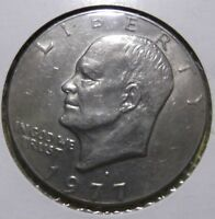 Eisenhower Dollar Coin 1977D Ike Copper Nickel Cald Circulated 279-1