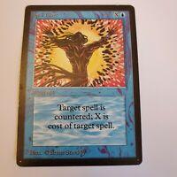 Spell Blast Beta Blue Common MAGIC THE GATHERING MTG CARD Moderate Play
