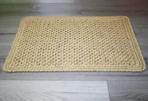 Eco Mat, lint-free natural mat made of jute, handmade (38x54cm)