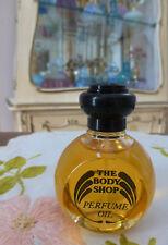 VTG 1990s The Body Shop JASMIN Perfume Oil 1 Oz 30ml w Ornate Black Cap RARE!