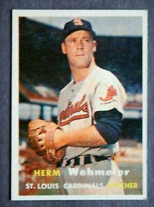 Herm Wehmeier #81 Topps 1957 Baseball Card (St Louis Cardinals) VG