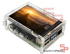 "Carcasa Raspberry Pi 4 acrilica transparente + LCD 3.5"" tactil + lapiz stylus"