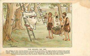 c1905 Religion Postcard Ser.240 C Druids A/S A.Moreland, Priest to Cut Mistletoe