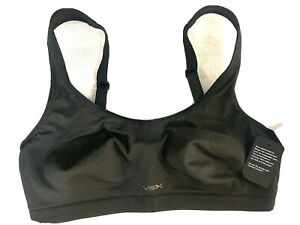 Victoria Secret VSX Sports Bra 36c Underwire Black Maximum Support Triple System