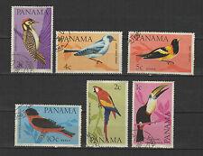 oiseaux 1967 PANAMA  6 timbres oblitérés / T1728