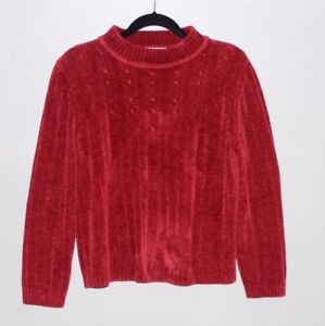 Alfred Dunner Deep Red Pullover Sweater Size Petite Large