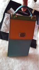 Etui bandoulière smartphone en cuir véritable, Dolce Gabbana authentique
