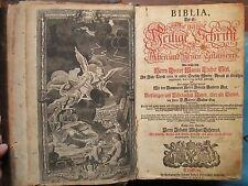 BIBLE DE LUTHER dite DILHERR. Nuremberg, 1755. Nombreuses planches et gravures.