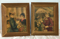 VTG Cherry Jeffe Huldah Framed Prints of French Ladies Ornate Wooden Victorian
