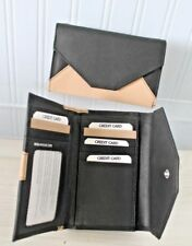 RFID Protected Golunski Black & Cream Leather TriFold Medium Purse