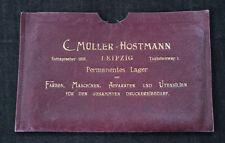 Alte Geldschein oder Dokumentenmappe Firma Müller - Hostmann Leipzig um 1920