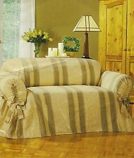 Alexandria Camel Semi-Fitted Loveseat Slipcover