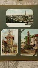 1890's - 1910 German Postcard Album; 72 Cards 46 Colored & only 3 Used ~ Near Mi