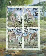 Timbres Animaux Girafes Niger 1776/9 o année 2013 lot 19279 - cote : 16 €