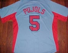 Albert Pujols 5 St. Louis Cardinals MLB Majestic Cooperstown Blue Red Jersey L