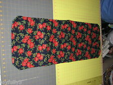 "1 Table Runner Christmas poinsettia Navy Blue holiday handmade Maine 48"" x 12"""