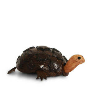 Handmade Coconut Shell Craft Decoration (Wooden and Coconut Shell Turtle) with E