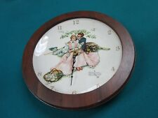 ROCKWELL CLOCK FLOWERS IN TENDER BLOOM FROM THE FOUR SEASONS COLLECTION GORHAM