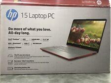 New listing Hp 15-Dw0081Wm 15.6 in 500 Gb Intel Pentium 2.70 Ghz 4Gb Laptop-Red
