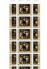Yemen kINGDOM Hadhramaut Qu'aiti Full Sheet Stamps TriStamps Arts MNH