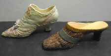 Vintage Raine Just The Right Shoe + Miniature Victorian Shoe Lot Of 2